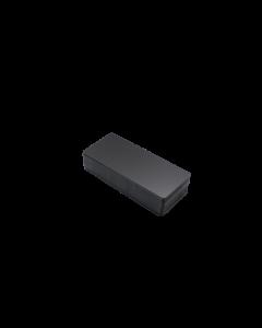 PVC Karten schwarz matt, 0.5 mm, 120x50 mm