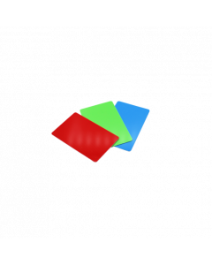 PVC Karten grün glanz, 0.5 mm, CR80 85.6x54 mm