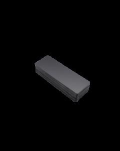 Holzstoffkarten/ Bluecards schwarz matt, 0.5 mm, 150x50 mm
