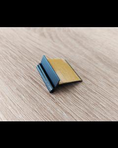 Kartenhalter für Holztablare, selbstklebend, schwarz