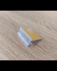 Kartenhalter für Holztablare, selbstklebend, transparent