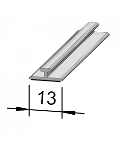 Rail adaptateur en T A001, 660 mm, adhésif