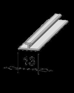 Rail adaptateur en T A001, 1'245 mm, adhésif