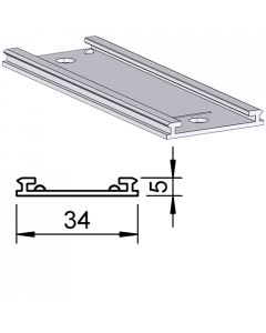 Rail glissant de guidage F003, pour poussoirs, longueur 458 mm