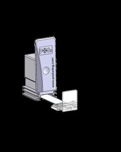 Warenvorschub / Pusher, mit 25 mm Frontanschlag, Breite 28 mm, Höhe 75 mm, 10-14 Newton
