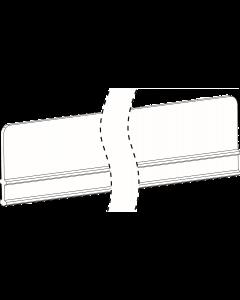 888 mm, Vitre avant E045, pur étagères en U