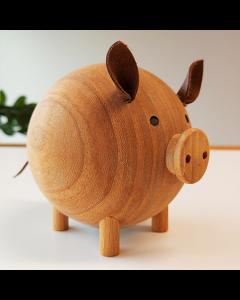 """Tirelire en bois """"cochon"""""""