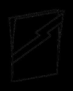 Transparente Schutzhülle für Kunststoff-Plakatrahmen DIN A3