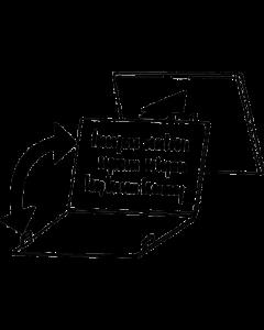 Einzelaufsteller mit rückseitiger Textinfo für PromoSign-, PromoLabel-, PromoLabelaqua Kassetten