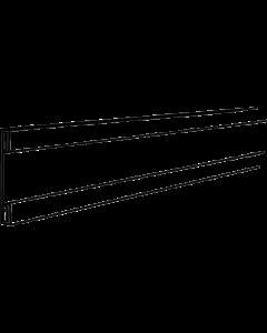 PromoSign Halteleiste offen, 100 cm schwarz