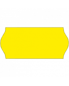 Meto Etiketten, 26x12 mm, fluor-gelb, ablösbar