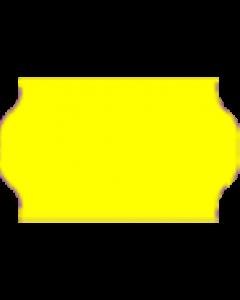 Etiquettes Meto, 32x19 mm, jaunes fluo, permanent