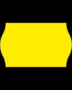 Etiquettes Meto, 26x16 mm, jaunes fluo, permanent