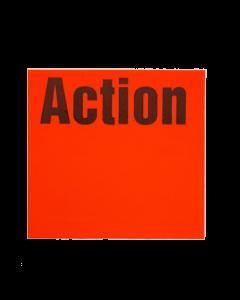 """Etiquettes Meto, 29x28 mm, rouges fluo, amovibles """"Action"""""""