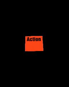 """Meto Etiketten, 29x28 mm, fluor-rot, ablösbar """"Action"""""""
