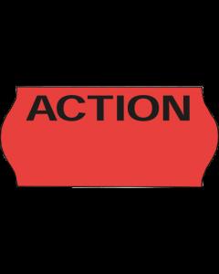 """Meto Etiketten, 26x12 mm, fluor-rot, ablösbar, """"Action"""""""