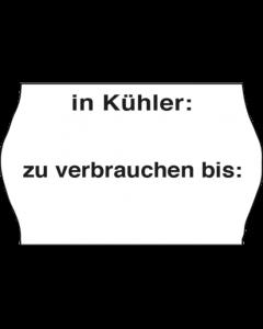 """Etiquettes Meto Gastro, 26x16 mm, blanches, congélation *In Kühler: / zu verbrauchen bis:"""""""