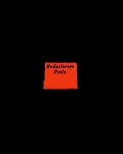 """Meto Abschreib Etiketten, 29x28 mm, fluor-rot, permanent """"Reduzierter Preis"""""""