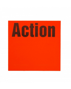 """Etiquettes Meto, 29x28 mm, rouges fluo, permanent """"Action"""""""