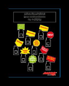 Aktionszeichen Sortiment für PromoLabelaqua Kassetten