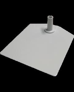 Metall-Bodenplatte, standard, hellgrau