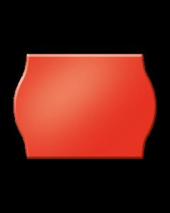 Etiquettes Arrow, 22x12 mm, rouges fluo, permanent