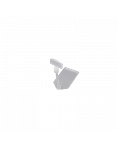 Support avec fixation pour cartes, longueur 85 mm, transparent
