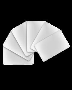 Cartes PVC blanches brillantes, 0.76 mm, CR80 85.6x54 mm