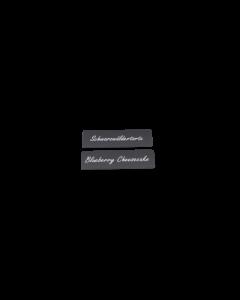 Cartes PVC noires mattes, 0.5 mm, CR80 coupées horizontalement en 2 parties