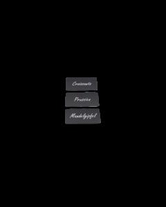 Cartes PVC noires mattes, 0.5 mm, CR80 coupées verticalement en 3 parties