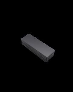 Cartes PVC noires mattes, 0.5 mm, 150x50 mm