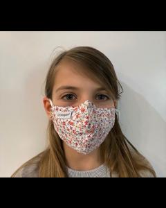 Livinguard Kids Street Mask, Kindermaske, red flowers