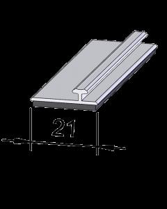 Rail adaptateur en T A003, 1'245 mm, adhésif