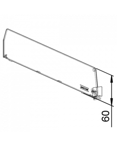 Fachteiler D060, mit vorderer Fixierung, Länge 80 mm
