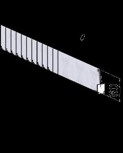 Séparateur Vario D060, avec fixation avant, longueur 205-355 mm
