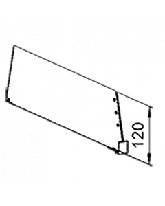 Fachteiler D120, mit vorderer Fixierung, Länge 230 mm