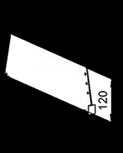 Fachteiler D120, mit vorderer Fixierung, Länge 380 mm