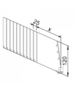 Fachteiler Vario D120, mit vorderer Fixierung, Länge 255-480 mm