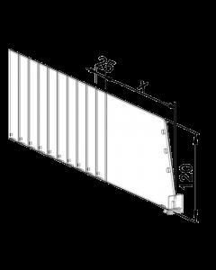 Séparateur Vario D120, avec fixation avant, longueur 355-580 mm