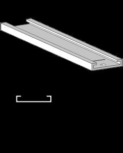 Rail glissant de guidage F001, pour poussoirs avec largeur 15 mm, longueur 335 mm