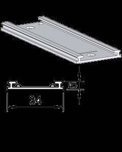Rail glissant de guidage F003, pour poussoirs, longueur 208 mm
