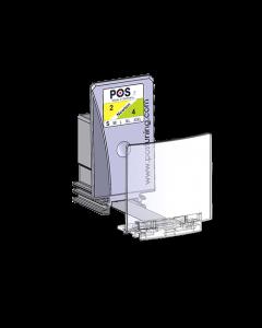 Warenvorschub / Pusher, mit 56 mm Frontanschlag, Breite 40 mm, Höhe 75 mm, 2-4 Newton