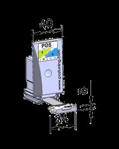 Poussoir / pusher, largeur 40 mm, hauteur 75 mm, 2-4 Newton