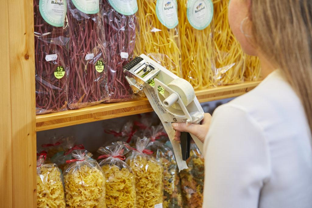 Spendegerät für runde Etiketten