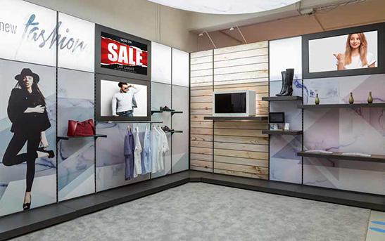 Textilspannrahmen-Anwendung-im-Kleiderladen